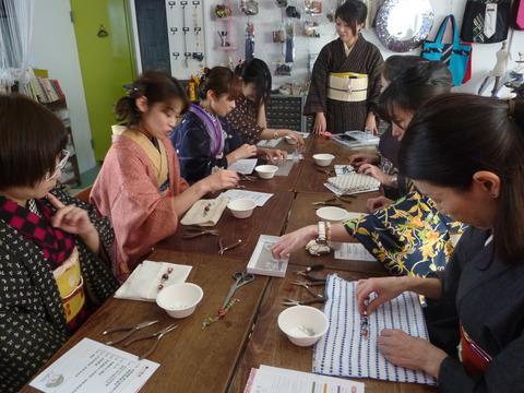 着物でお出かけイベント報告★ビーズ羽織紐作り&浅草寺初詣