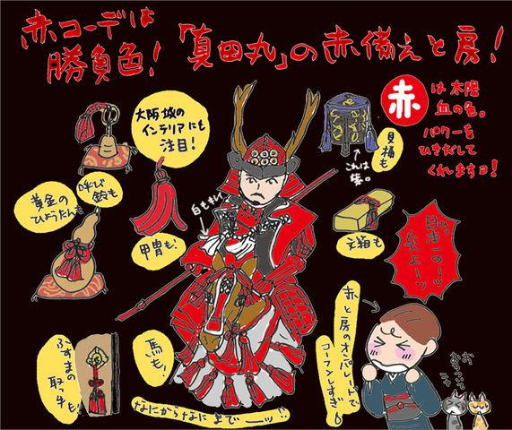 赤コーデは勝負色! 「真田丸」の赤備えと房に注目の巻~着物大好きコミックエッセイスト ほしわにこ連載コラム「オトナの着物生活」