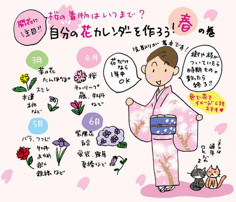 桜の着物はいつまで着られるの?★着物大好きコミックエッセイスト ほし わにこ連載コラム「オトナの着物生活」