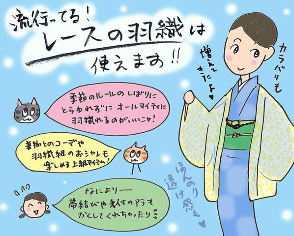流行ってる!レースの羽織は便利です☆の巻~着物大好きコミックエッセイスト ほしわにこ連載コラム「オトナの着物生活」