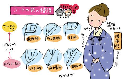 コートの衿の種類、いくつご存じですか?~着物大好きコミックエッセイストほし わにこ「オトナの着物生活」