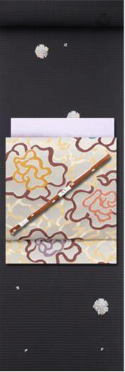 本日の着物コーディネート帖「粋な桜小紋をはんなり帯で華やかに」