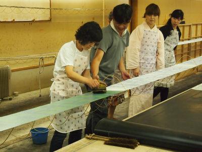 【お出かけ報告】栗山工房で帯揚げを染めてきました!