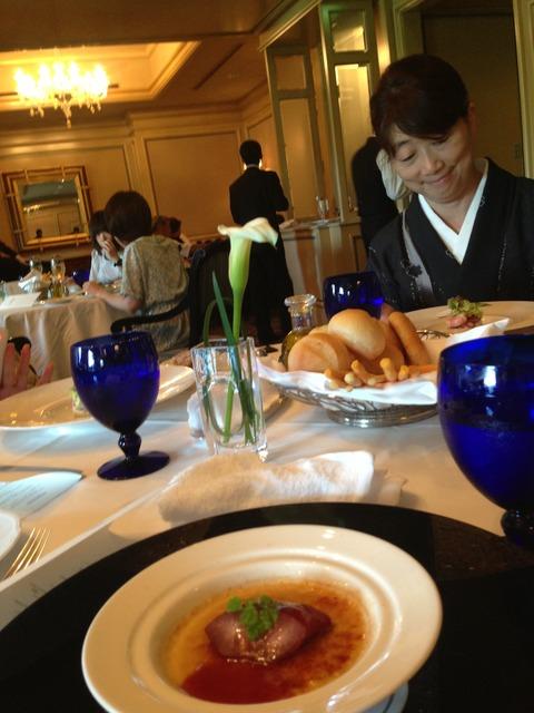 着物でおでかけ★ホテル椿山荘でフラワーアレンジメントレッスンしました!