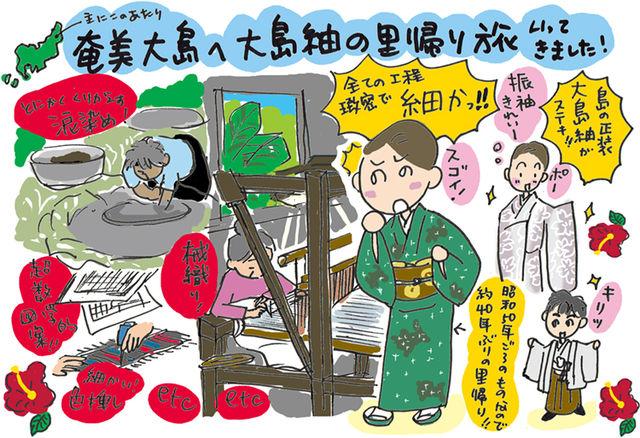 大島紬の里帰り。奄美大島へのの(布)旅してきました☆の巻 ~着物大好きコミックエッセイスト ほし わにこ連載コラム「オトナの着物生活」~