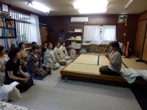 京紅型の栗山工房で半衿染め体験イベント行いました