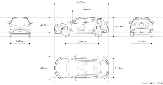 Toyota-CH-R寸法図