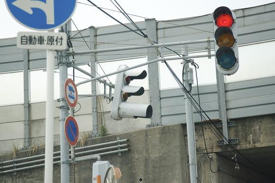 信号機と道路標識