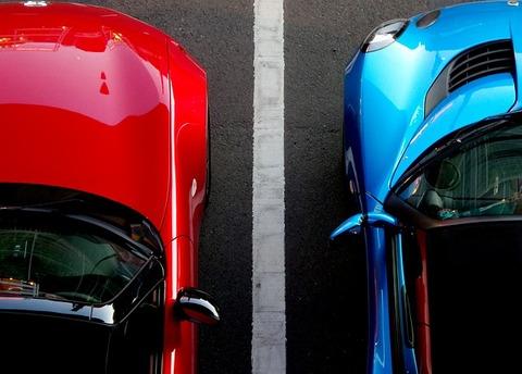 バック駐車のコツ