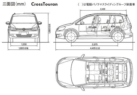 Cross-Touran-size