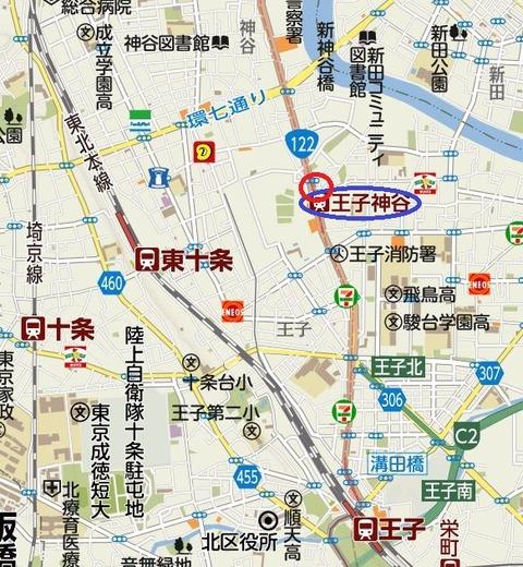 王子神谷地図