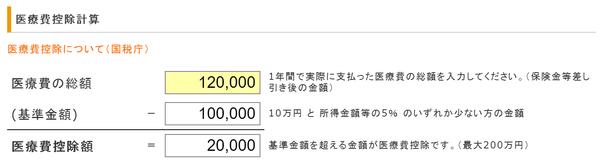 太郎さんの医療費控除