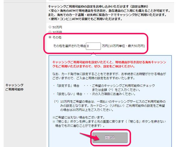 リクルートカードVISA申込み8