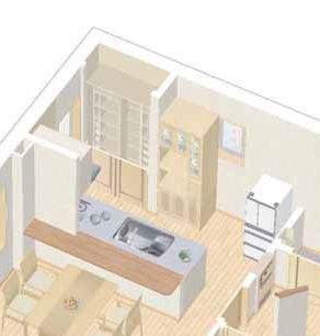キッチン立体図