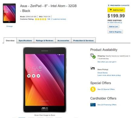 ASUSの「ZenPad S 8.0 / C 7.0」が米国で販売開始!価格は$199.99と$99.99で結構安いゾ!