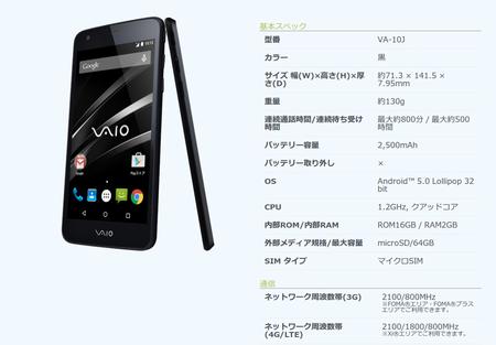 【悲報】VAIO Phone (VA-10J)、WCDMA Band6に非対応で山間部での通話が厳しい
