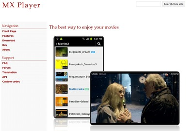 MX動画プレーヤー、Android 5.0(Lollipop)に対応したTest Build版をサイトで公開