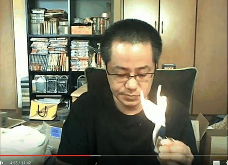 【動画】kukuluLIVE配信者・だーすけ、生配信中にオイルマッチで火事に