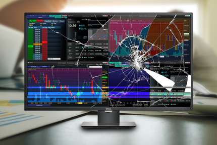 Dell-monitors-broken-cryptocurrency-trading