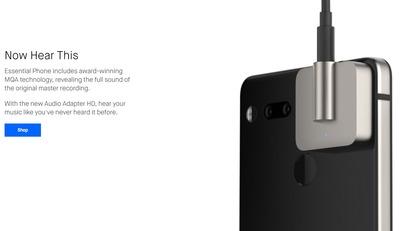 Essential Phone PH-1用の外付けイヤホンジャック「Audio Adapter HD」がついに発売