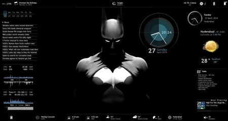 RainMeter_Customized_Skin_with_BatMan_Theme