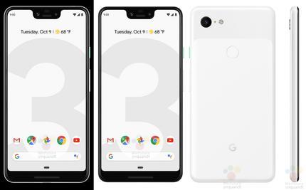 Googleの新型スマホ「Pixel 3/3 XL」のプレス画像流出
