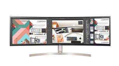 LG、5120×1440ドットの49インチモニタ「49WL95C」「49WL900G」を公開