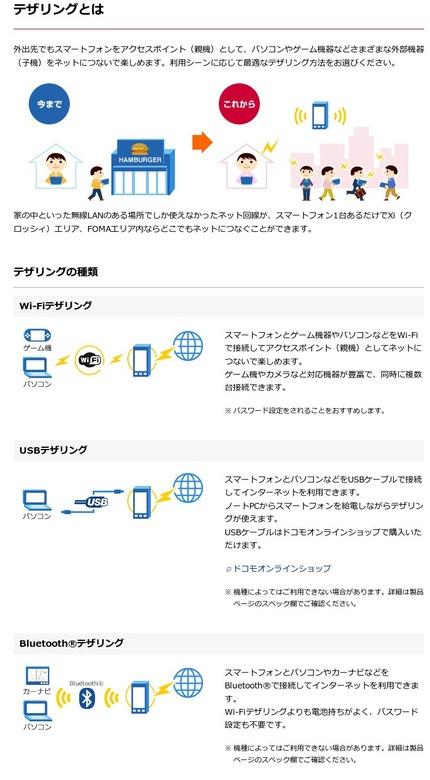 テザリングとは  サービス・機能  NTTドコモ
