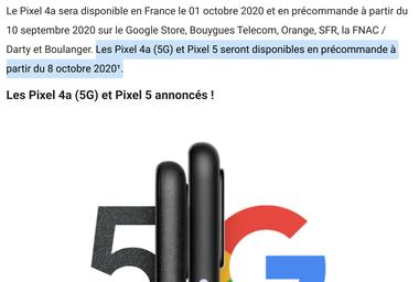 google-france-pixel-5-date