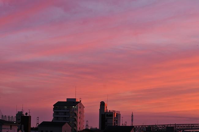 幻想的な夕焼け