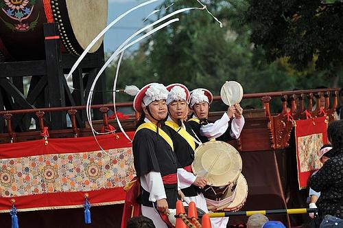百済文化祭扶余国楽団ブンムルノリ隊 4