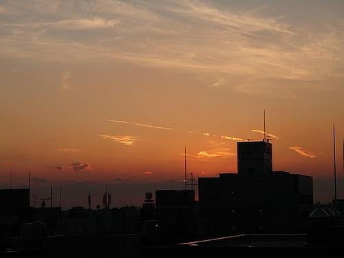 大阪のビジネス街の夕焼け 11