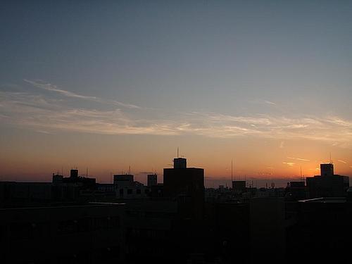 大阪のビジネス街の夕焼け 5