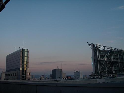 大阪のビジネス街の夕焼け 4
