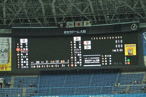 2010.3.13 京セラドーム大阪(対巨人戦)