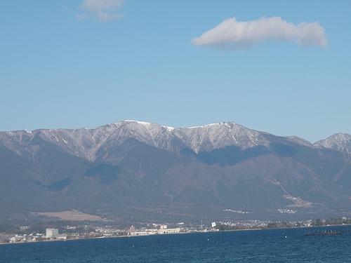 琵琶湖から望む山々