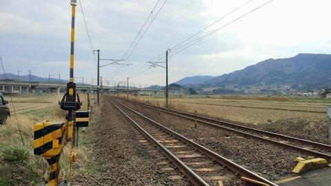 東北本線坂谷踏切X2東京方面1