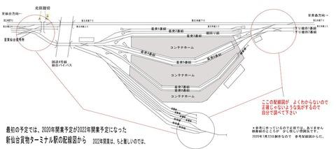 岩切新仙台貨物ターミナル駅配線図原稿A2020.7.22