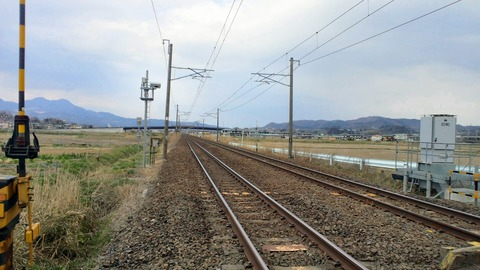 東北本線坂谷踏切X1仙台方面1