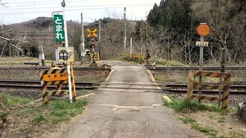 東北本線峠の森踏切X1方向1