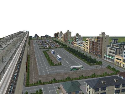 田舎の新幹線駅前広場Bタイプ5