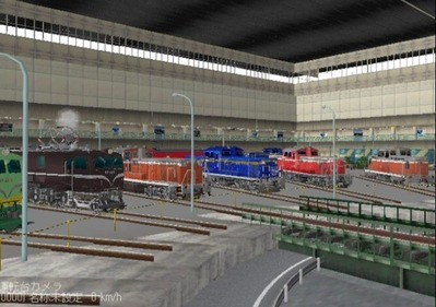 VRM3版車両博物館ディーゼル機関車ターンテーブル1