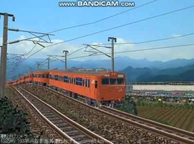越河レイアウト103シリーズ98-103系JR高運転台オレンジ色関西圏4