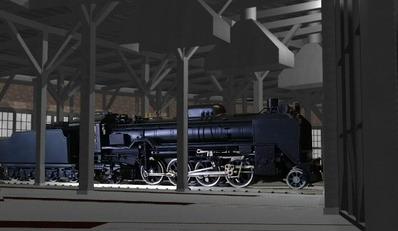 MMD鉄道でC62をつくるEjimaさん13