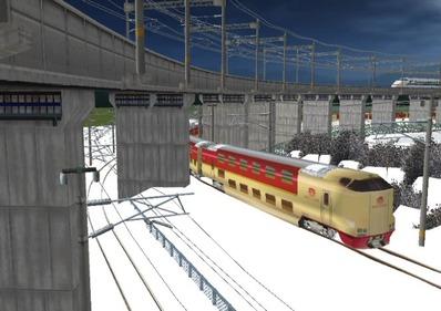 仮想日本海縦幹線雪景色285系サンライズ5
