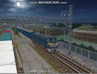 越河レイアウト夜汽車シリーズ7-EF66-51さくら5