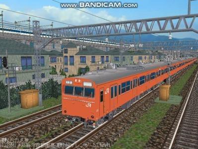 越河レイアウト103シリーズ98-103系JR高運転台オレンジ色関西圏1