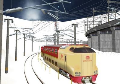 仮想日本海縦幹線雪景色285系サンライズ1