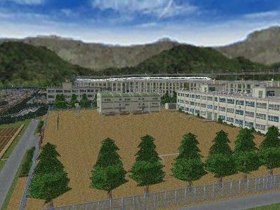 白石駅構内完成形上り方面5中学校2