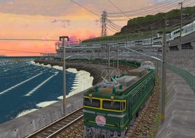 仮想日本海縦幹線日本海夕暮れ6トワイライト2